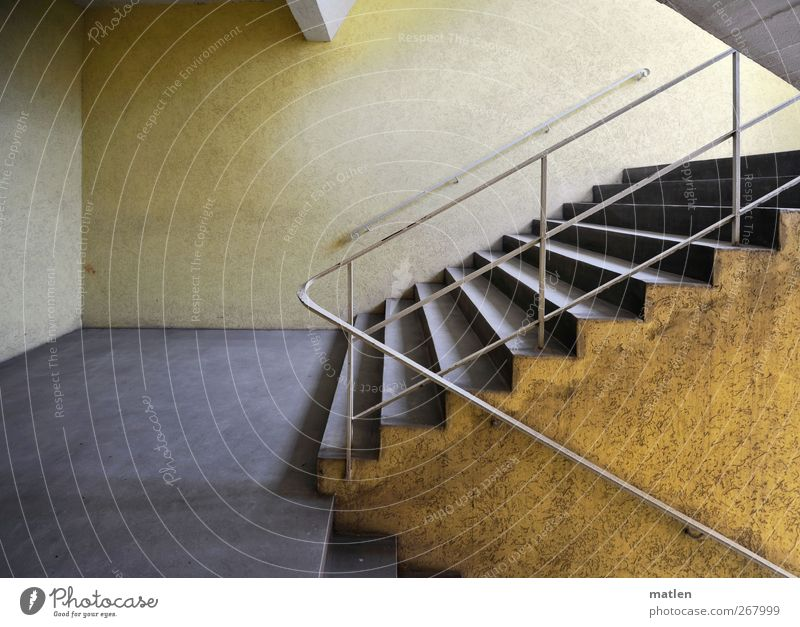 City Yellow Wall (building) Gray Wall (barrier) Stairs Esthetic Clean Handrail Staircase (Hallway) Banister