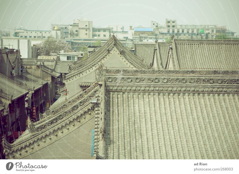 Old City Wall (building) Architecture Wall (barrier) Building Roof Manmade structures Historic Skyline China Chimney Tradition Old town Eaves Xian