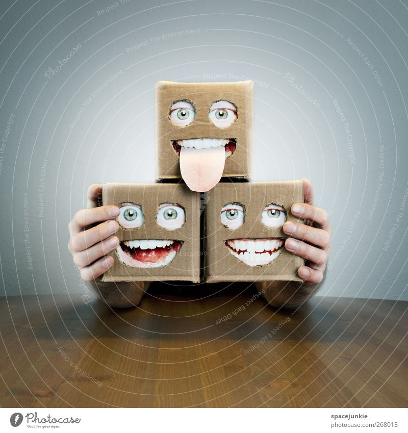 Face Eyes Small Laughter Exceptional Mouth 3 Table Crazy Illuminate Observe Smiling Creepy Scream Trashy Cardboard