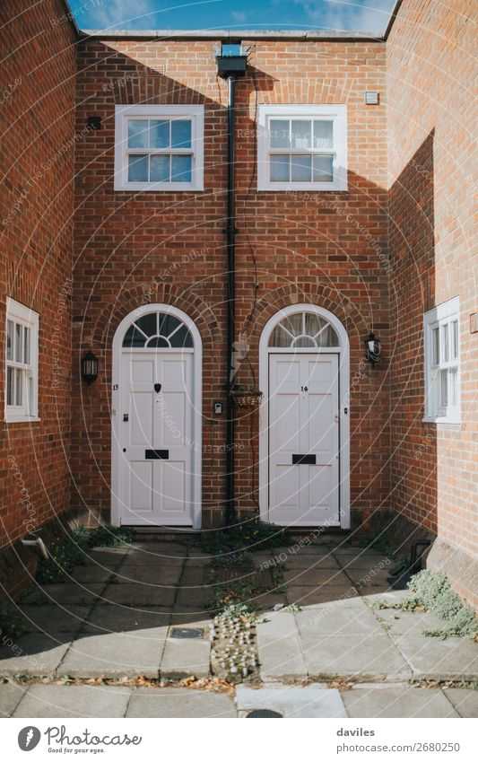 Brick english house facade Town White Red House (Residential Structure) Window Architecture Wall (building) Style Building Wall (barrier) Facade Vantage point