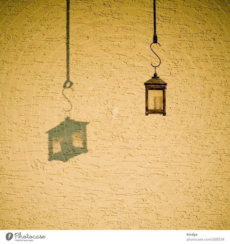 Beautiful Yellow Wall (building) Wall (barrier) Style Lamp Moody Facade Exceptional Esthetic Illuminate String Kitsch Lantern Hang Equal