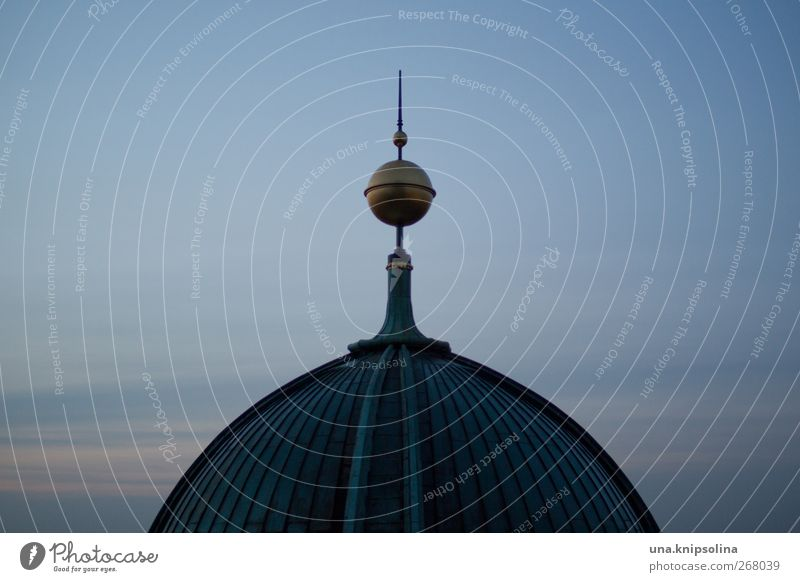 bruwapi Sky Church Dome Manmade structures Roof Domed roof weather peak Tourist Attraction Monument Berlin Cathedral Old Round Religion and faith Might Dark