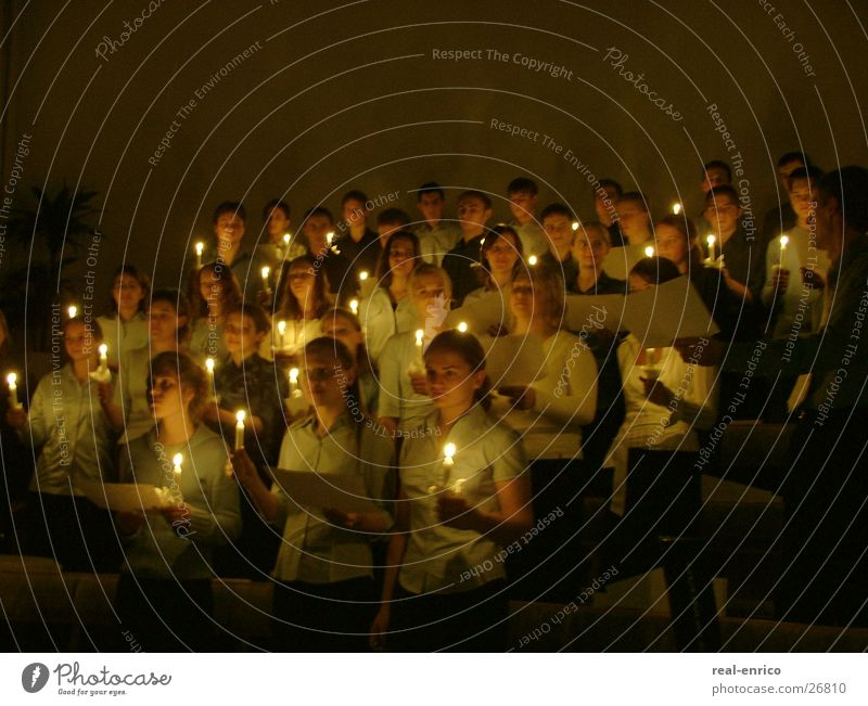 Choir with candles Sing Candle Song Group Singing romatics church choir Christmas & Advent eulogy