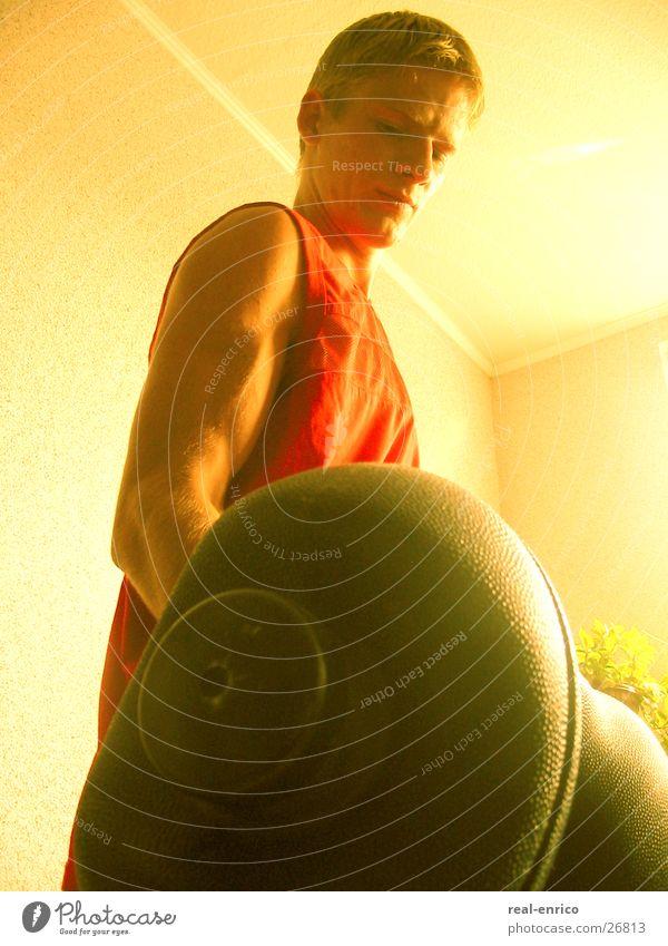 Lift weight Man Dumbbell Practice Sports lift weights Musculature Power