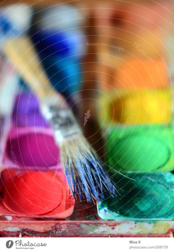 Colour Art Leisure and hobbies Painting (action, artwork) Creativity Paintbrush Paintbox