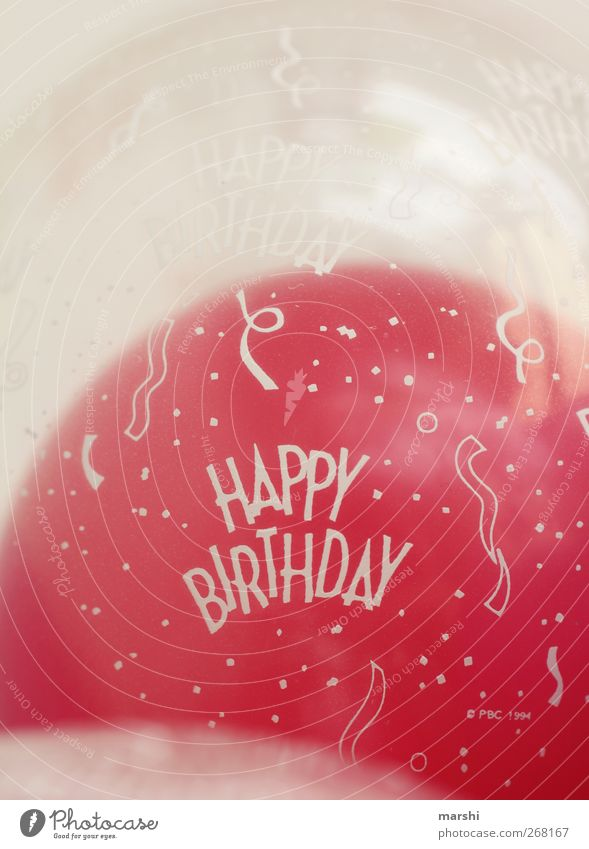 Happy Birthday Leisure and hobbies Sign Characters Pink Red Balloon Feasts & Celebrations Gift Logo Inflated Colour photo Interior shot