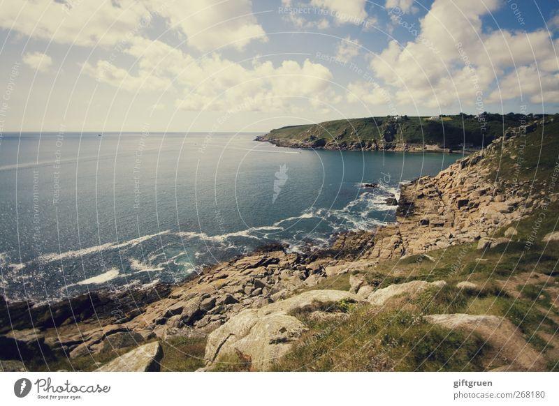 Sky Nature Blue Water Sun Ocean Summer Beach Clouds Environment Landscape Meadow Coast Stone Horizon Earth