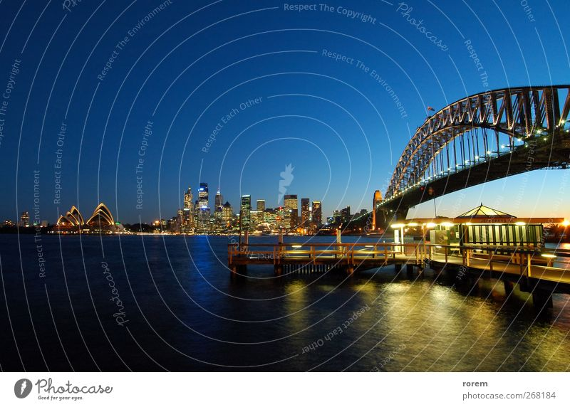 Sydney CBD City Vacation & Travel Ocean House (Residential Structure) Tourism Bridge Harbour Skyline Jetty Dusk Australia Entertainment Icon Circular Quay