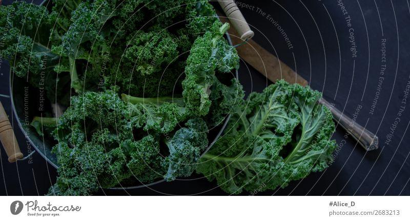 Green cabbage Winter vegetables Food Vegetable Lettuce Salad Kale Kale leaf Cabbage Bowl Knives Lifestyle Healthy Healthy Eating Fresh Delicious Natural Black