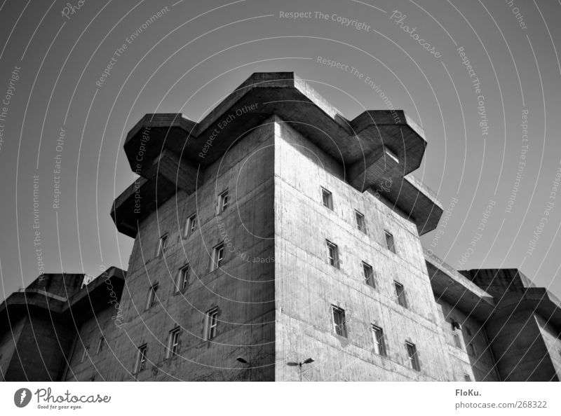 City House (Residential Structure) Wall (building) Architecture Gray Wall (barrier) Building Facade Hamburg Gloomy Manmade structures Castle Historic War