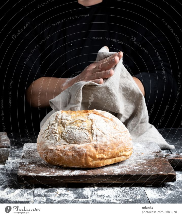 baked round bread Bread Nutrition Table Kitchen Cook Hand Fingers Wood Eating Make Dark Fresh Brown Black White Tradition Baking Bakery board cooking