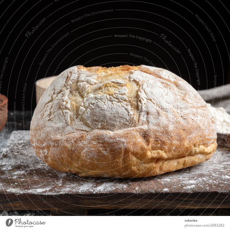 whole baked round bread White Dark Black Wood Brown Nutrition Fresh Table Kitchen Tradition Bread Make Meal Rustic Baking Chopping board