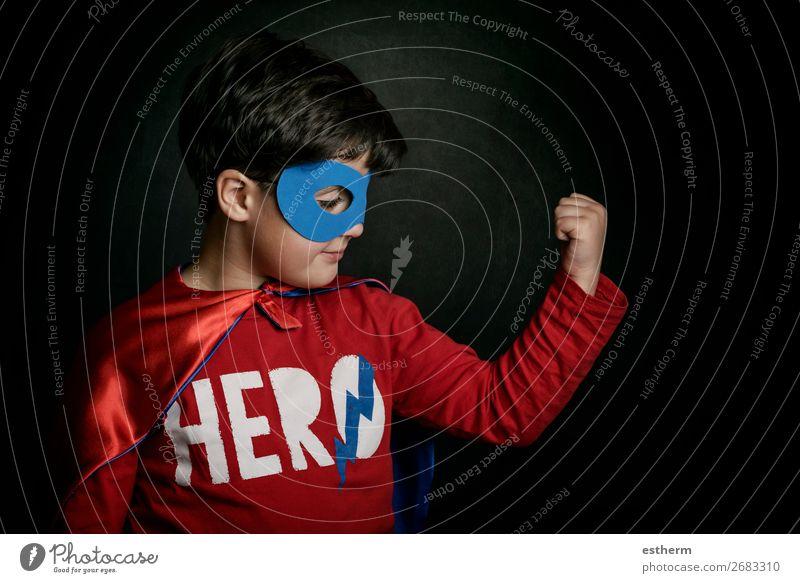 superhero, Portrait of boy in superhero costume Lifestyle Joy Happy Adventure Feasts & Celebrations Hallowe'en Fairs & Carnivals Success Human being Masculine