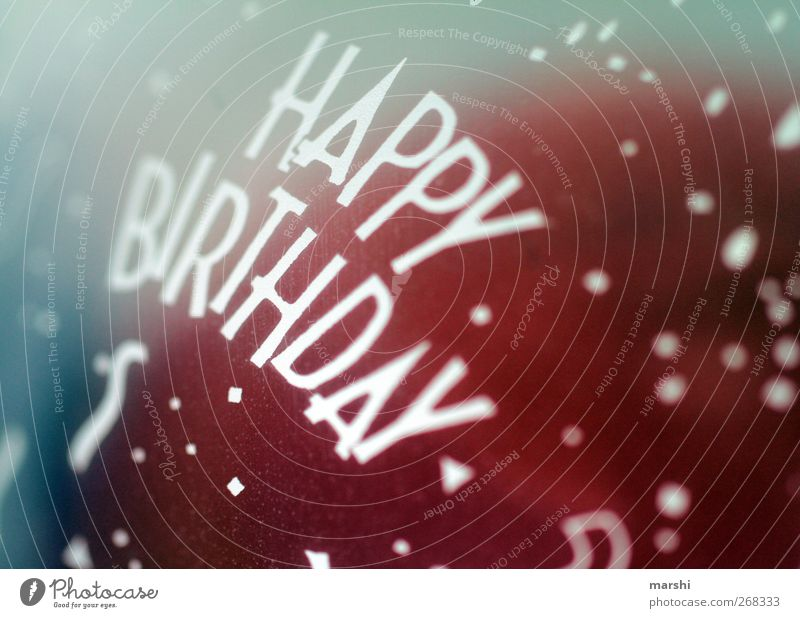 Happy birthday... Sign Characters Red Happy Birthday Logo Retro Retro Colours Balloon Symbols and metaphors Colour photo Close-up Detail