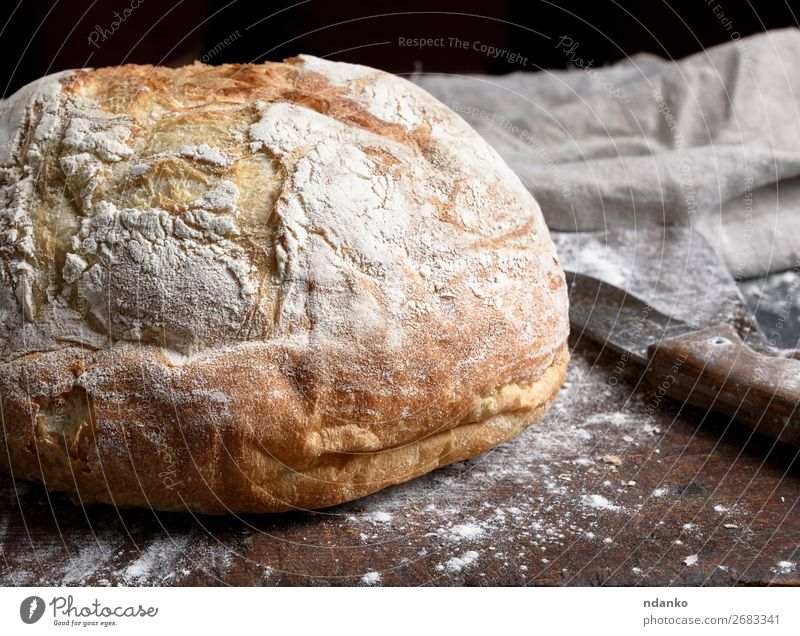 baked round white wheat bread White Dark Black Wood Brown Fresh Table Kitchen Tradition Bread Make Meal Rustic Baking Chopping board Ingredients