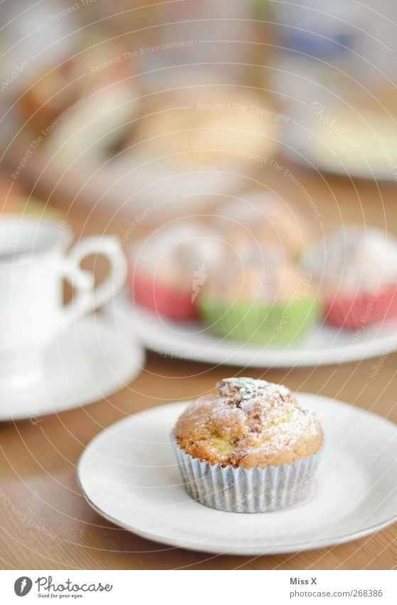 Nutrition Food Small Beverage Sweet Coffee Crockery Cup Cake Delicious Breakfast Plate Dessert Muffin To have a coffee Hot drink