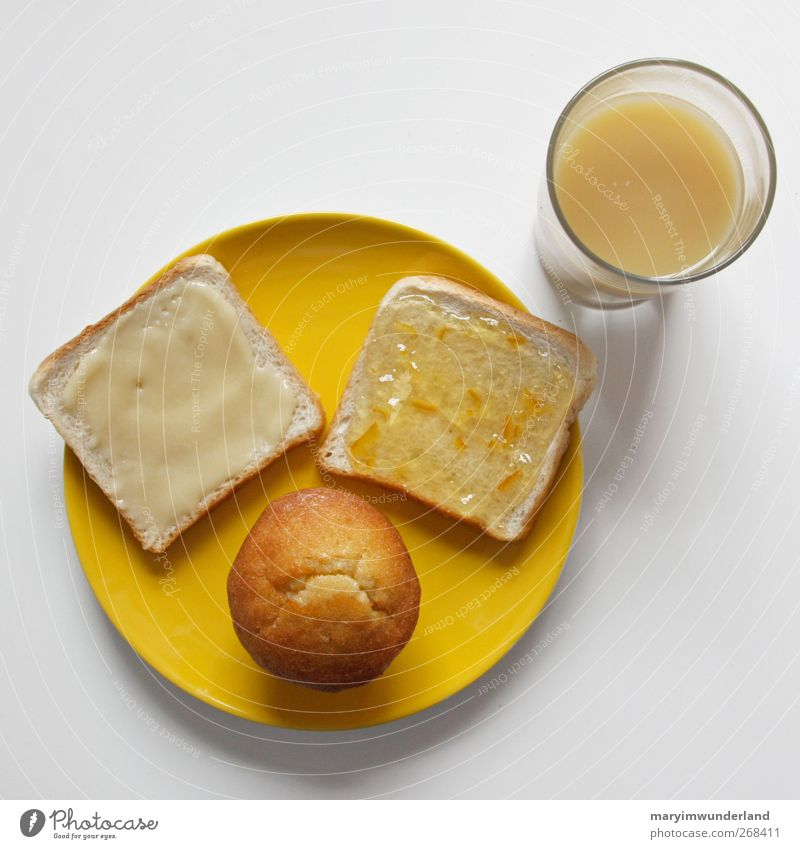 Yellow Glass Nutrition Food Beverage Healthy Eating Crockery Breakfast Delicious Cake Plate Juice Honey Muffin Jam Toast