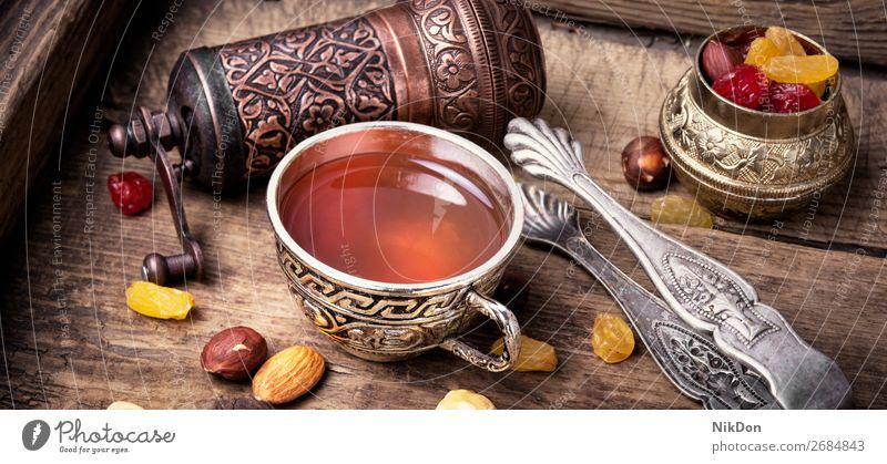Tea in arab style tea drink cup food east beverage arabic turkish ramadan eastern islam sweet religion oriental muslim ingredient asian aroma copper islamic