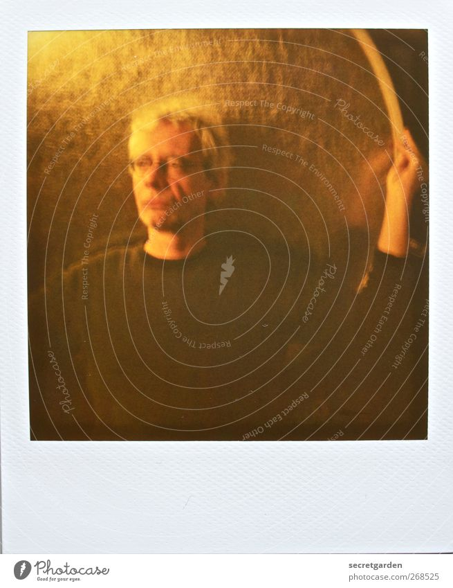 icarus Athletic Life Calm Meditation Room Human being Masculine Man Adults 1 45 - 60 years Sweater Hair and hairstyles White-haired Short-haired Gold Black