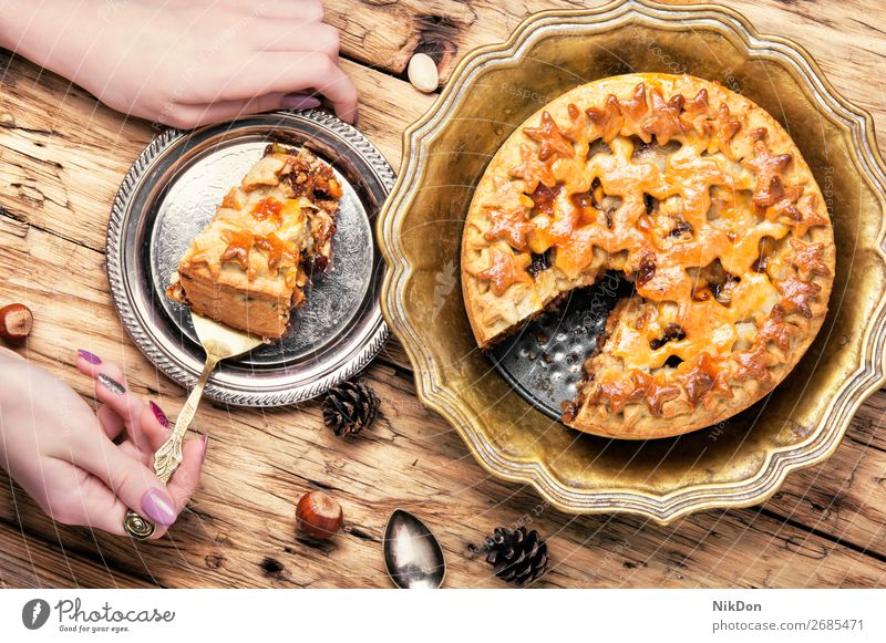 holiday home pie christmas dessert cake sweet homemade pastry tart rustic crust festive baked celebration tradition xmas confectionery fir dish dough rural
