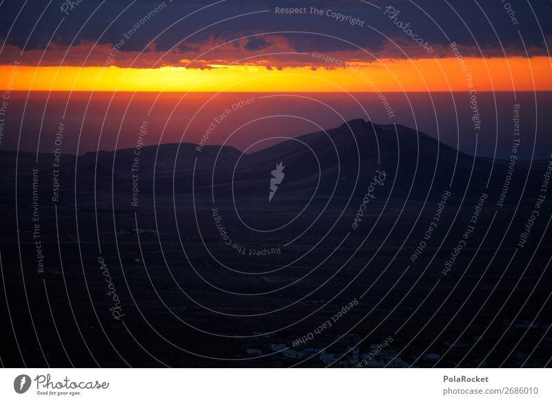 #AS# Morning of the Gods Art Work of art Esthetic Sunrise Mystic Sky Heaven Sky blue Skyward Compass point Canopy (sky) Heavenwards Ocean Clouds Colour photo