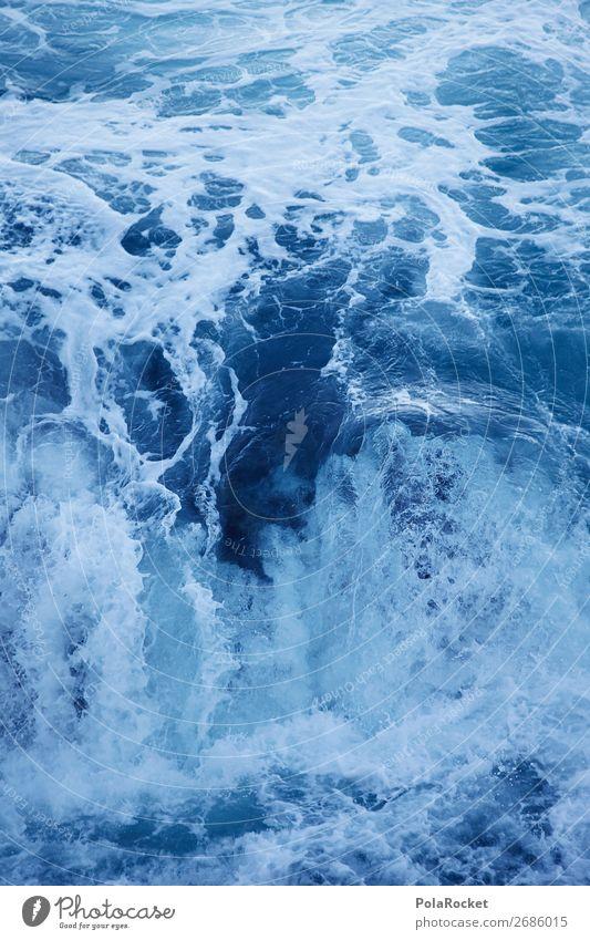 #AS# Hydropower Art Esthetic Water Surface of water Hydroelectric  power plant Whirlpool Waves Swirl Wave break Wave trough Ocean Sea water The deep