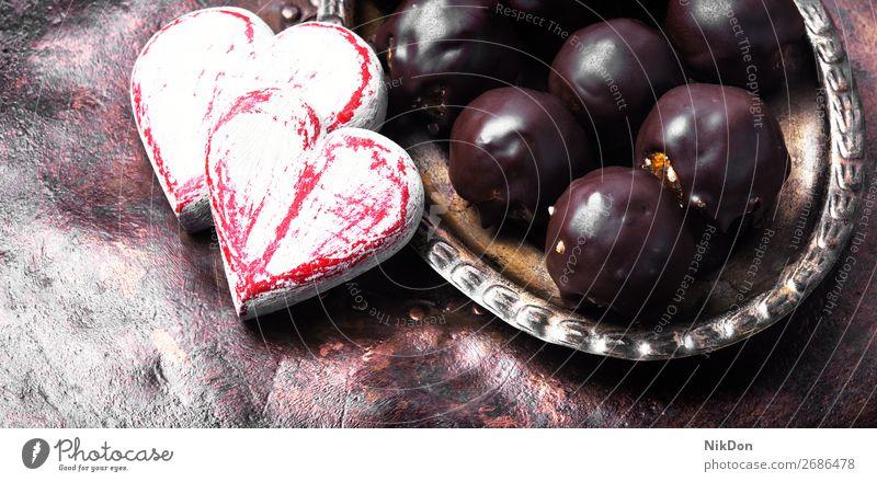 Chocolate Candies for Valentines Day valentine love candy sweet holiday heart red romantic chocolate sugar romance dessert celebration symbol truffle dark