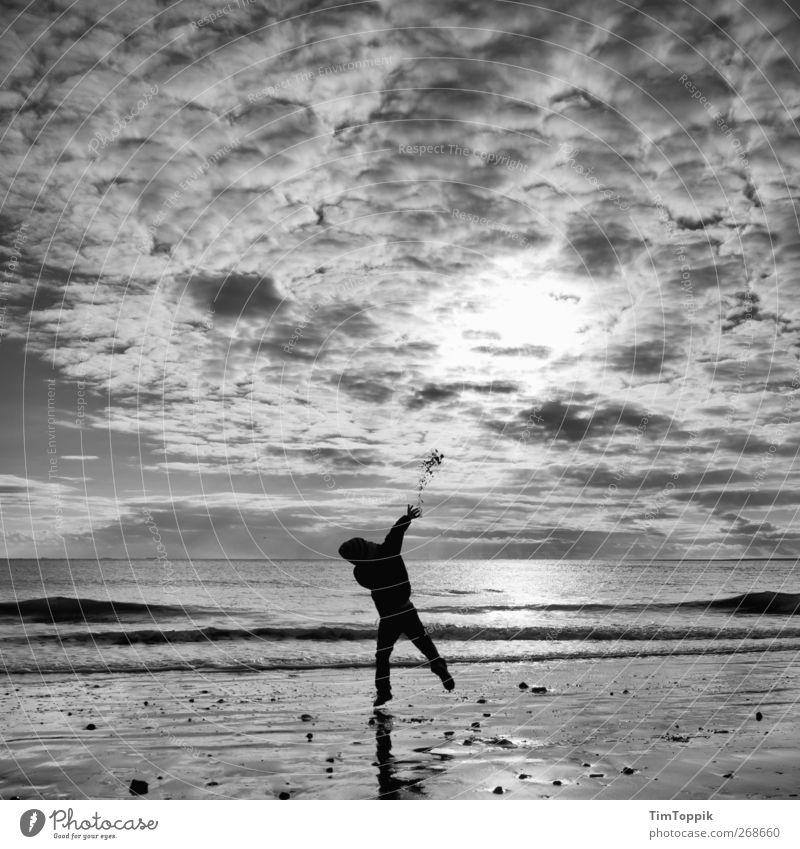Borkum Bounce #7 North Sea North Sea coast North Sea beach North Sea Islands East frisian island Sky Ocean Clouds in the sky Sunset Playing Throw 1 Person