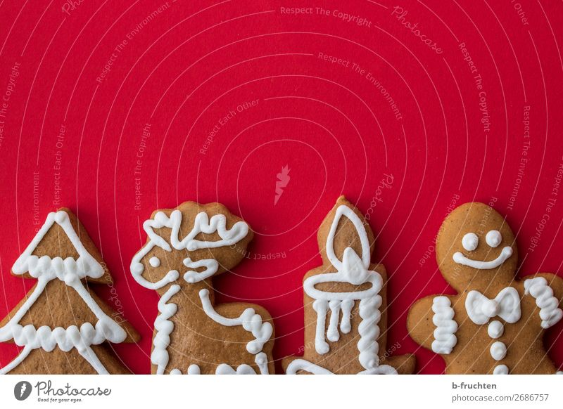 Christmas gingerbread Dough Baked goods Candy Feasts & Celebrations Christmas & Advent Paper Select Fresh Sweet Red To enjoy Gingerbread Gingerbread man