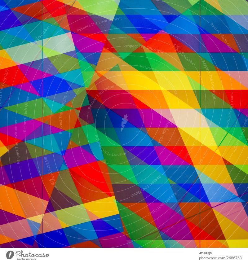 Colour Style Design Line Arrangement Crazy Perspective Cool (slang) Stripe Many Hip & trendy Geometry Rectangle