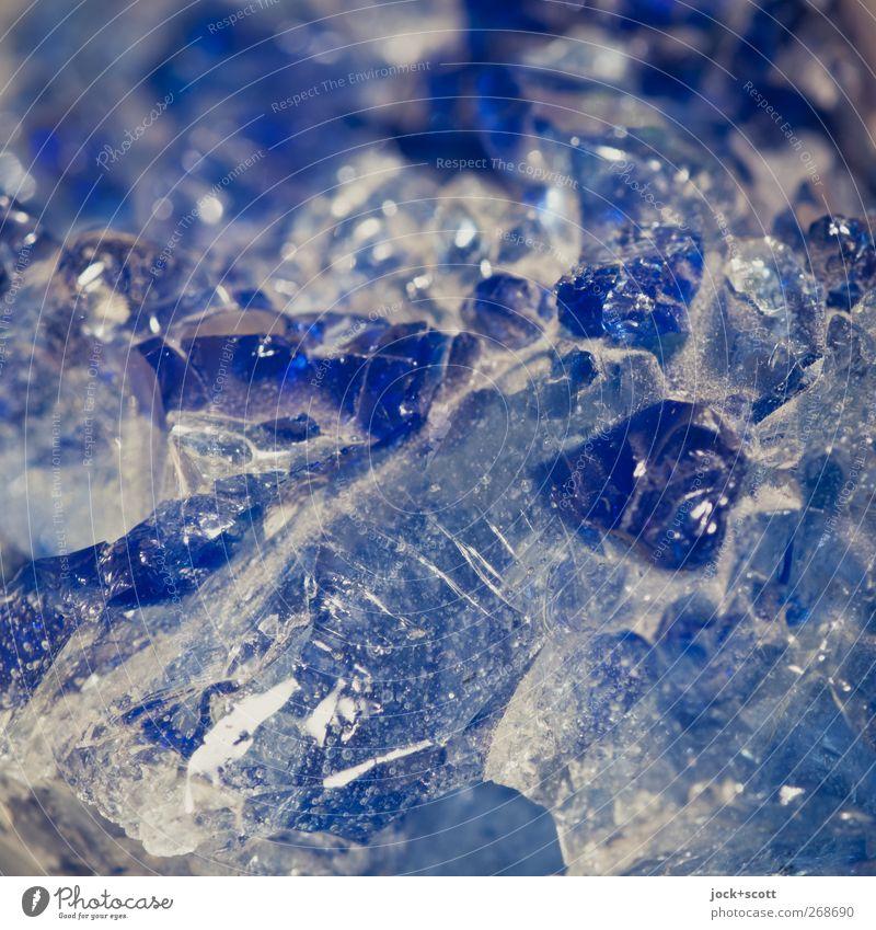 Blue Beautiful Colour Natural Stone Line Glittering Elegant Decoration Authentic Esthetic Simple Elements Kitsch Network Pure