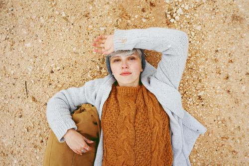 An adventurer young caucasian woman Woman Human being Vacation & Travel Nature Youth (Young adults) Young woman Colour Beautiful Relaxation Loneliness Calm