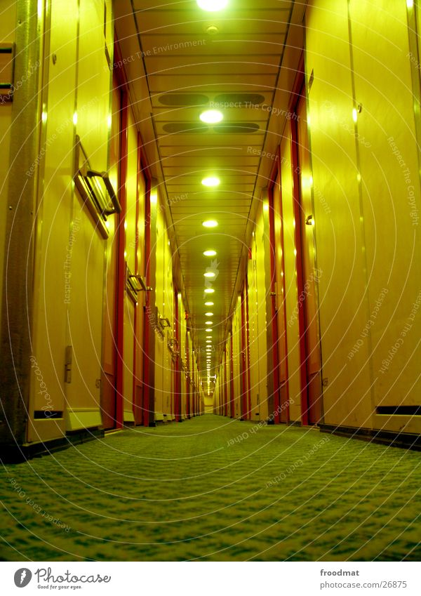 Yellow Lamp Watercraft Lie Door Perspective Floor covering Deep Navigation Hallway Alcohol-fueled Symmetry Carpet Corridor Ferry Finland