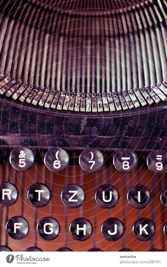 Old Black Work and employment Characters Beginning Paper Digits and numbers Retro Idea Letters (alphabet) Education Write Document Word Keyboard Inspiration