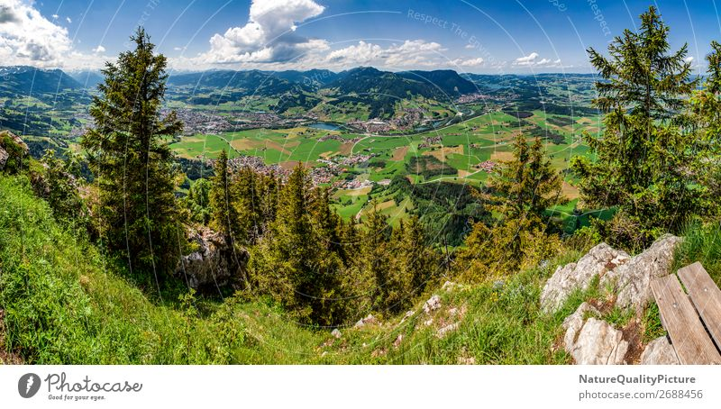 View from Burgberger Hoernle in Burgberg - Allgaeu - Germany Style Joy Happy Wellness Life Harmonious Well-being Contentment Relaxation Calm Meditation