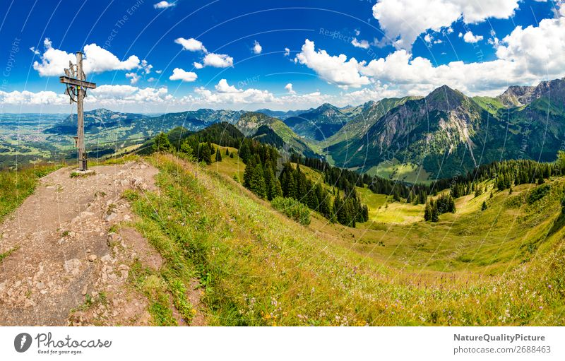 Human being Vacation & Travel Nature Summer Relaxation Calm Joy Far-off places Mountain Background picture Environment Lanes & trails Sports Movement Germany