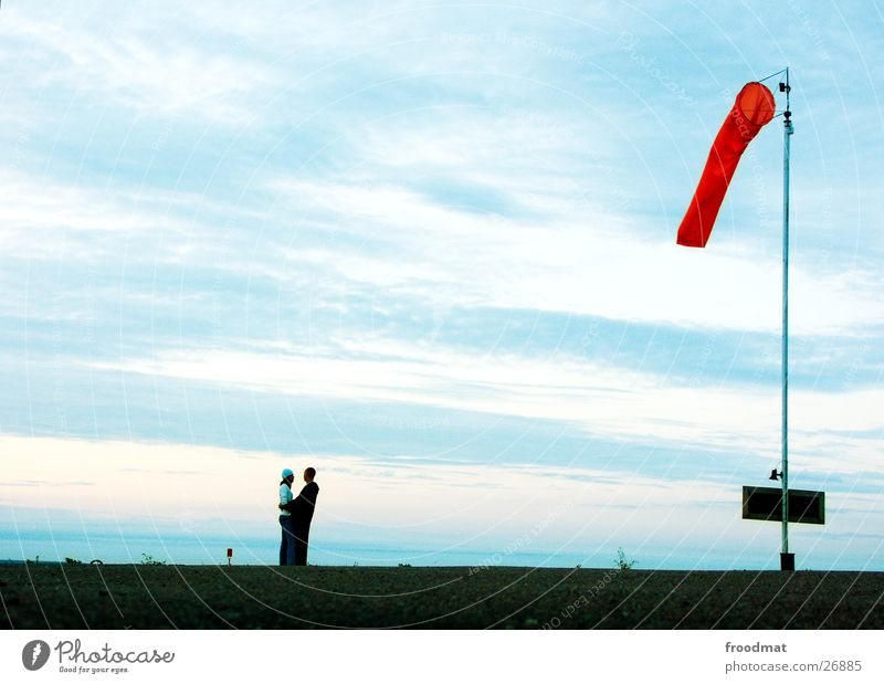 Human being Sky Ocean Clouds Loneliness Love Happy Couple Wind Together Signs and labeling In pairs Romance Harbour Trust Narrow