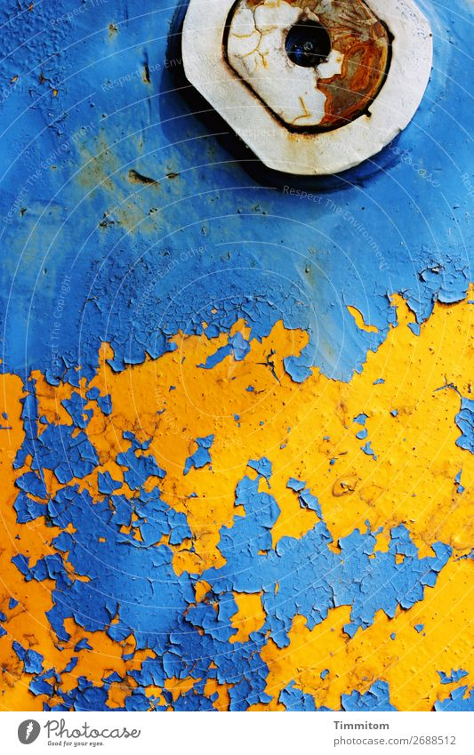 Old Blue Colour White Yellow Emotions Metal Esthetic Transience Flake off Machinery