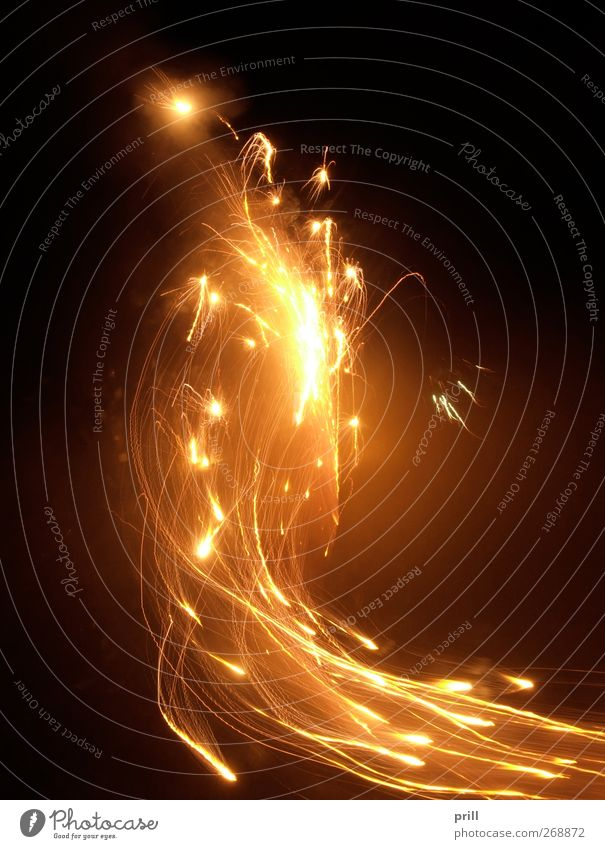 dynamic pyrotechnics Design Event Feasts & Celebrations New Year's Eve Warmth Smoke Illuminate Hot Bright Respect Disaster Spark Fire Incandescent Sparkler