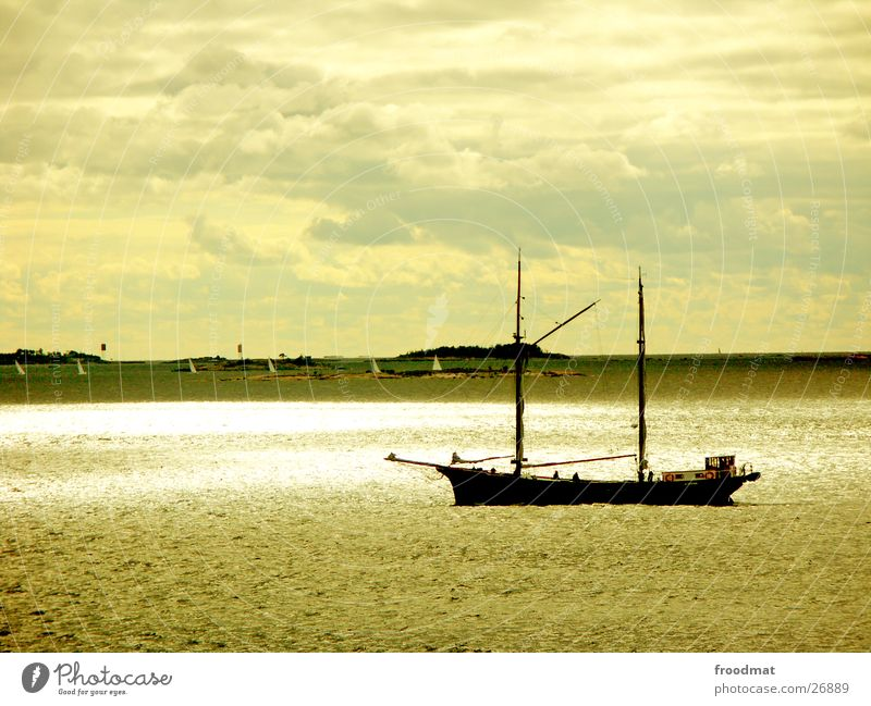 Water Sky Clouds Watercraft Europe Sail Finland Helsinki