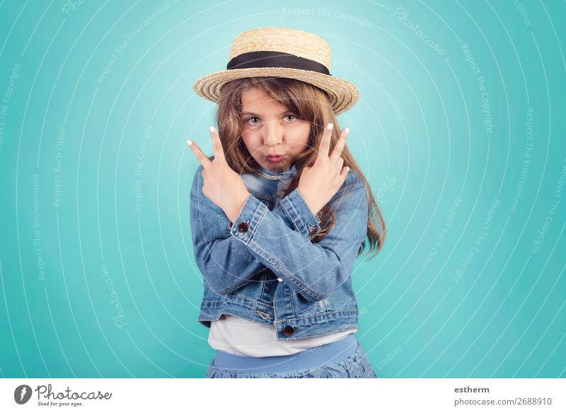 portrait of funny girl with hat Lifestyle Joy Happy Beautiful Leisure and hobbies Vacation & Travel Tourism Trip Success Human being Feminine Girl Infancy 1