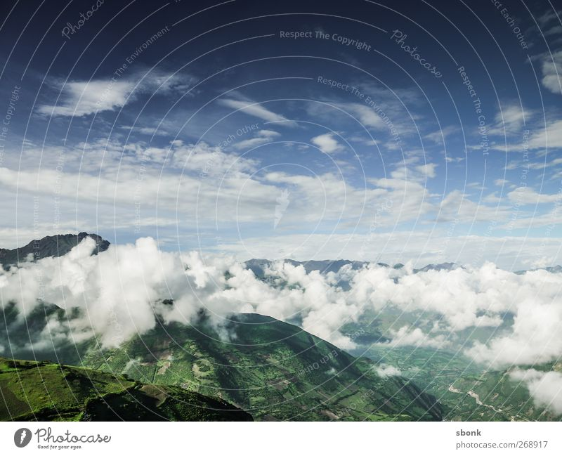 Sky Nature Clouds Mountain Environment Rock Horizon Peak Hill Alps South America Peru Andes