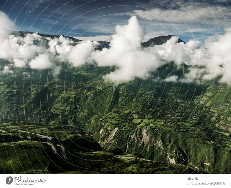 Sky Nature Vacation & Travel Clouds Mountain Environment Rock Hill Alps South America Peru Andes Movement