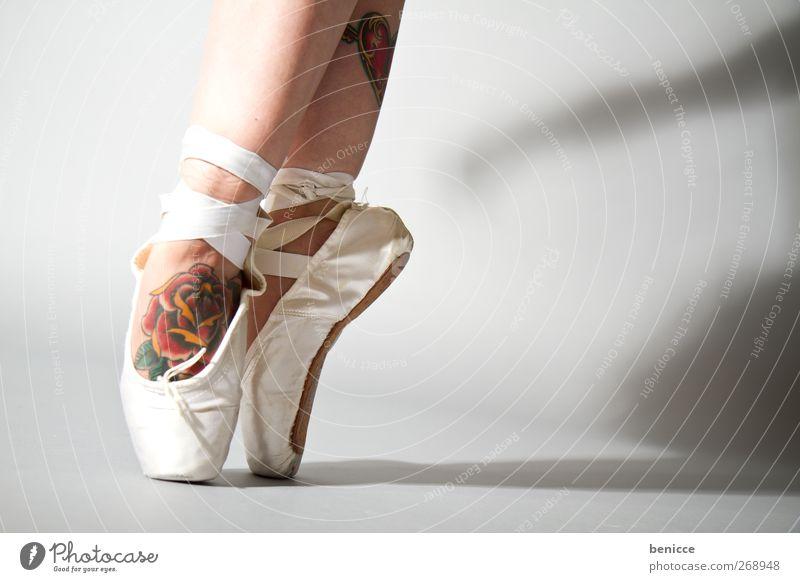 bravo Ballet Ballet shoe Rose Tattoo Dance Dance event Dancer Converse Close-up Workshop Feet Legs Stand Tip of the toe Ballerina Shadow Rock music Punk