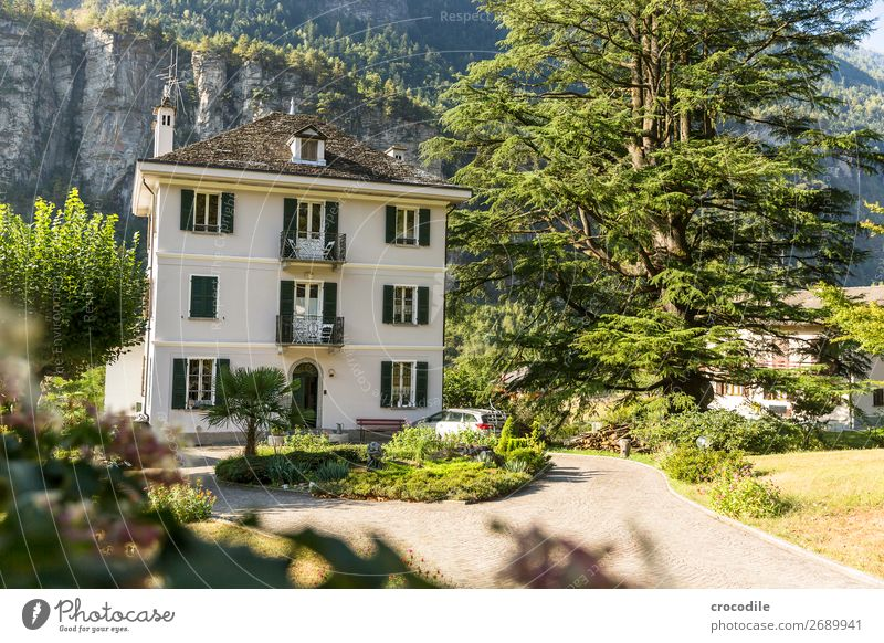 # 749 Italy Alps bed and breakfast Hotel Old Historic Morning Rock Colour photo Foreground Beautiful weather Calm Peaceful Relaxation Vacation & Travel