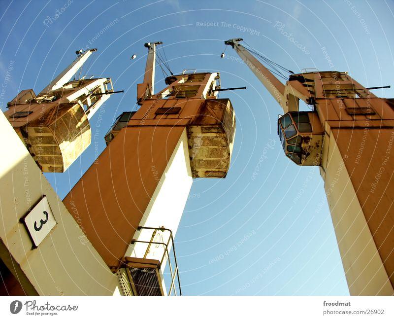 Old Sky Sun 3 Tall Technology Weight Handrail Crane Electrical equipment