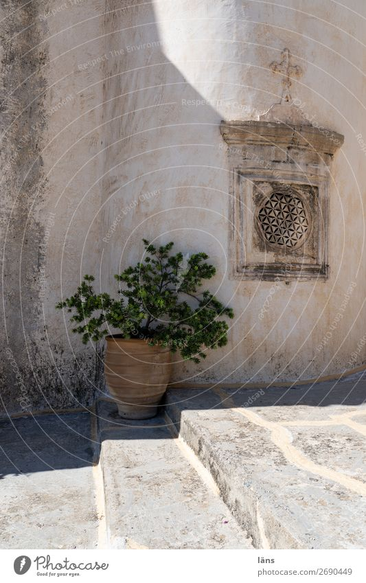 monasteries Monastery Wall (barrier) Crete Deserted Stairs Light Shadow