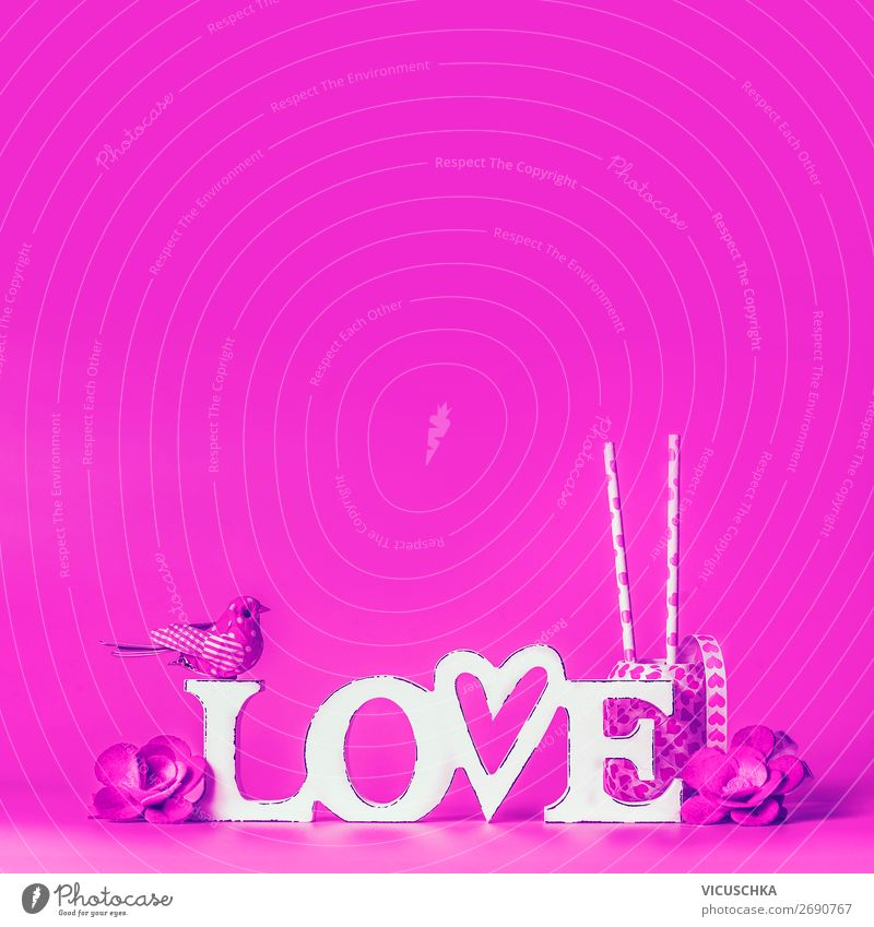 Word LOVE on pink background Shopping Design Joy Valentine's Day Decoration Bow Love Pink Background picture word love valentines day greeting Sale love symbol