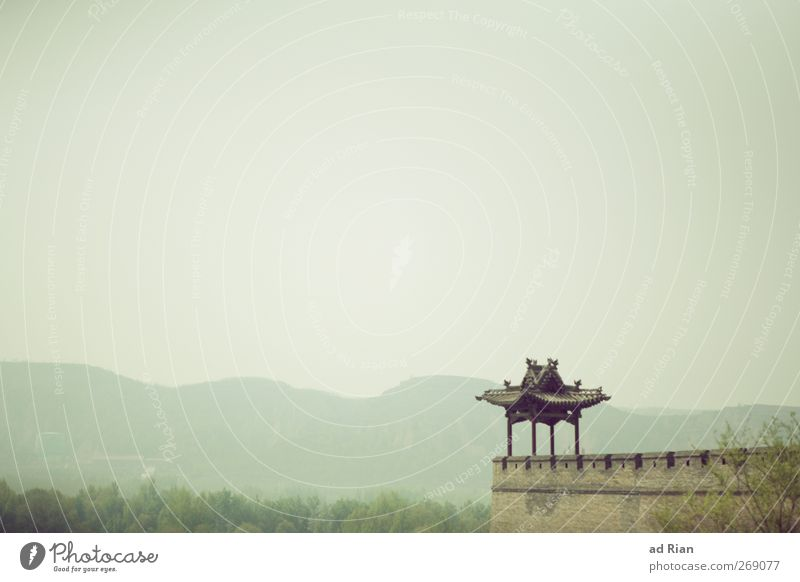 protective Environment Landscape Sky Cloudless sky Horizon Beautiful weather Plant Tree Bushes Park Hill Pingyao China Small Town Outskirts Old town Skyline