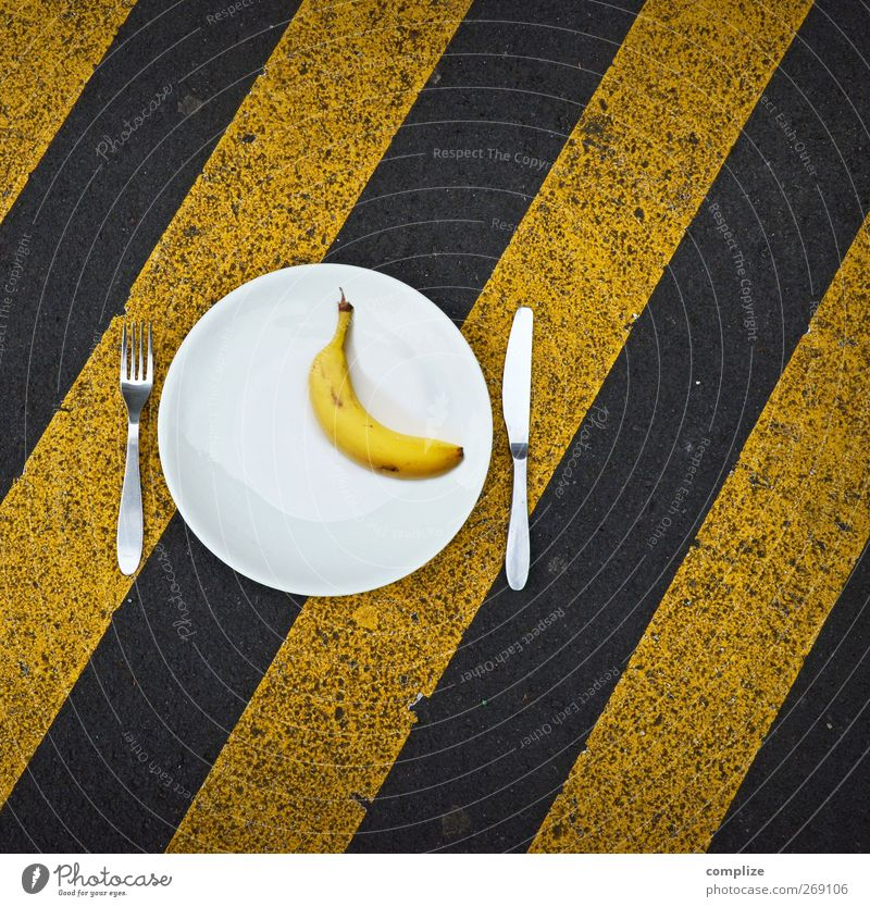 Yellow Street Stone Line Fruit Food Nutrition Living or residing Driving Wellness Agriculture Diagonal Crockery Plate Organic produce Knives
